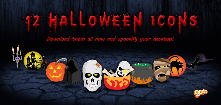 Free halloween icons from GCDS! Download them now! http://gcds.com.au/downloadables/halloween-icons-2012.zip