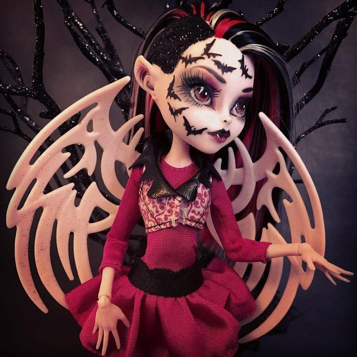 """Trista"" custom OOAK Batsy Claro monster high doll. Created by @LadySpoonArt"