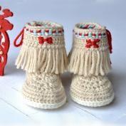 Baby Bow Shoes crochet pattern - Allcrochetpatterns.net