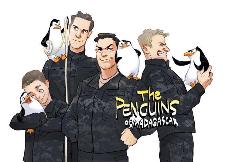 Penguins of Madagascar by Hallpen.deviantart.com on @DeviantArt