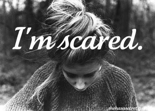 I'm scared of reality, knowing its right there.... I'm scared just to even open my eyes sometimes because I've seen it all fall away.....