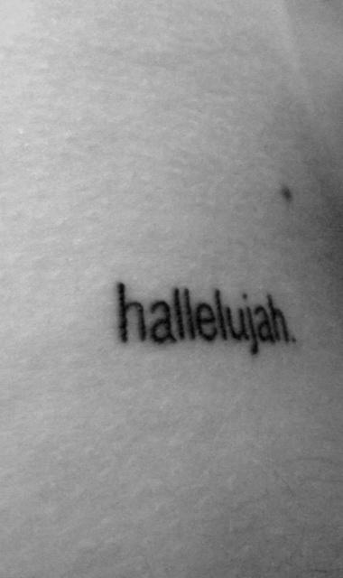 simple text tattoo