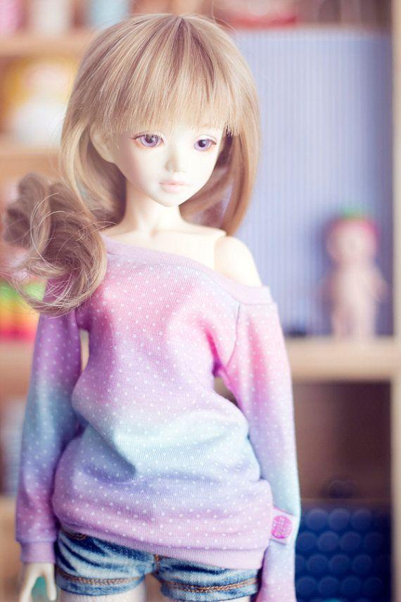 Gradient Dots sweater for MSD size bjd dolls Unoa Minifee