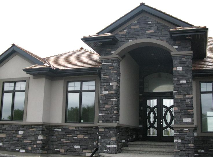 Alberta Ledgestone Siding In Black Rundle Coloring