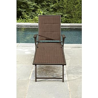 Ty Pennington Style Kesey Folding Padded Sling Chaise   Outdoor Living    Patio Furniture   Chaise