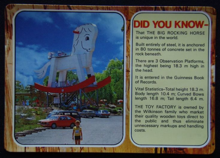 The Biggest Rocking Horse In The World Gumeracha SA MV c1970's Postcard (P240) | eBay