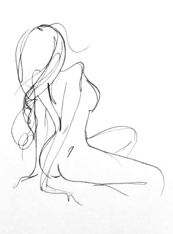 Originele vrouwelijke houtskool Sketch vrouwelijke door FormElation