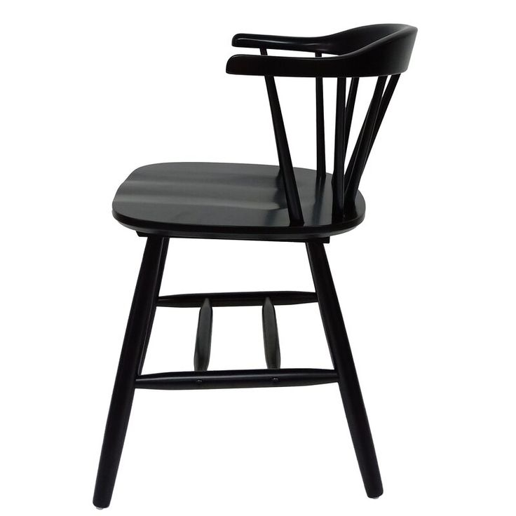 Doiron solid wood windsor back arm chair in 2020