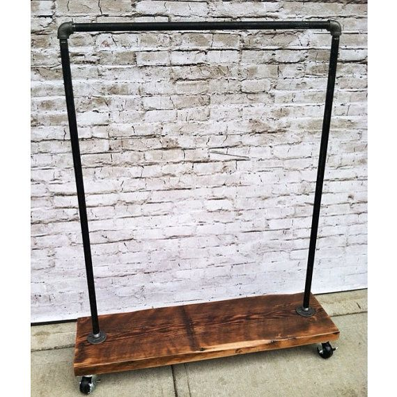 Heavy Duty Industrial Garment Rack - Tim could easy make this for the new apartment and the new house eventually!