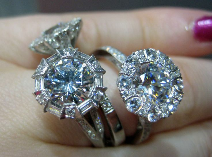 Several glorious Tacori diamond engagement rings. Via Diamonds in the Library.  One day this will be my wedding ring! :)