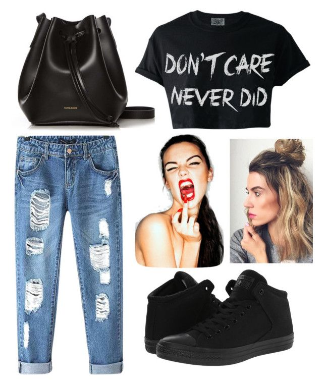 Senza titolo #59 by hopegloverglow on Polyvore featuring moda, Chicnova Fashion, Converse and Rachael Ruddick