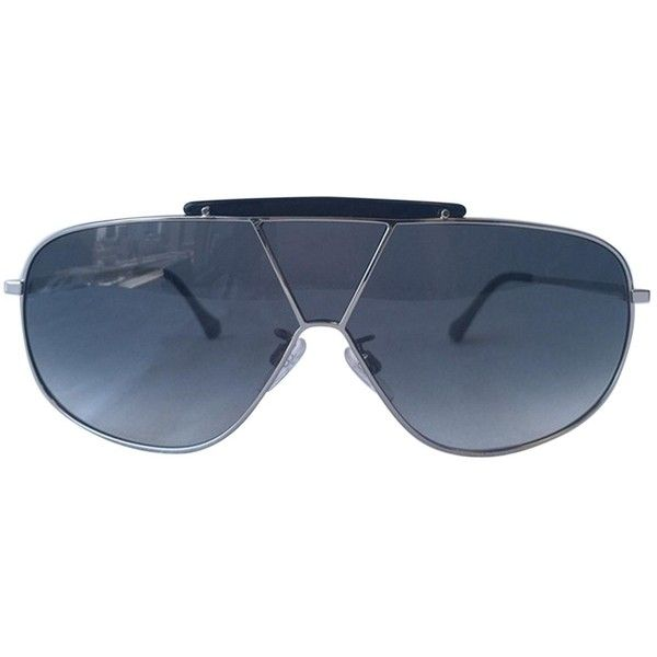 Pre-owned Balenciaga Sunglasses (450 BRL) ❤ liked on Polyvore featuring accessories, eyewear, sunglasses, silver, balenciaga eyewear, balenciaga, silver glasses, balenciaga glasses and balenciaga sunglasses