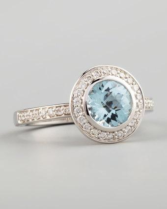 FREDERIC SAGE  Frederic Sage Mini Aquamarine Diamond Ring