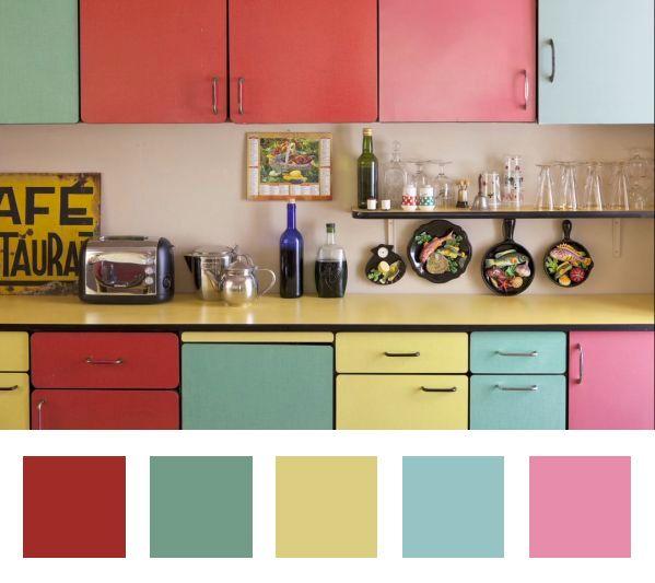 Top vintage et color une cuisine qui a tout bon dccv Objet cuisine retro