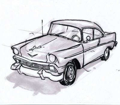 Quick car sketch - love it