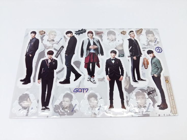 GOT7 Standing Paper Doll Korean Pop Star KPOP K POP K-POP Paper Doll