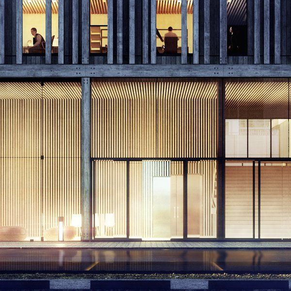 Les 25 meilleures id es de la cat gorie fa ade du b timent for Architecte italien contemporain