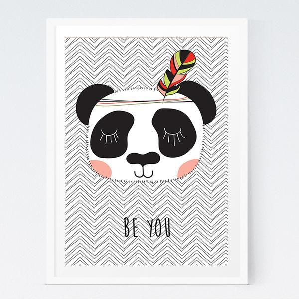 Nursery Wall Art Prints S Tribal Panda Be You Print Bedroom Decor