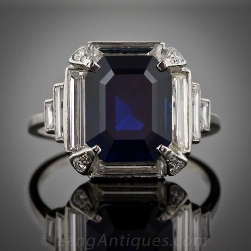 1000+ Ideas About Emerald Cut Sapphire Ring On Pinterest