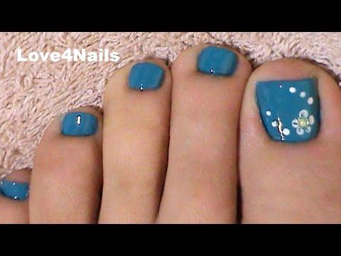 Fast & Easy Blue Toe Nail Art - http://47beauty.com/nails/index.php/nail-art-designs-products/  Link to my channels playlist for more toe nail art tutorials: https://www.youtube.com/playlist?list=PL8B91447A1EA9C376 Song Title : Don't Look Youtube Audio Library Video Rating:  / 5  HELLO U GUYS * ITS THE MIDDLE OF THE WEEK! I BRING U A COLORFUL TUTORIAL MANICURE. EASY TO FOLLOW & DO. TRY IT IN YOUR FAVORITE COLOR. HAVE A GREAT WEEK EVERYONE, BYE**Disclaimer: I do