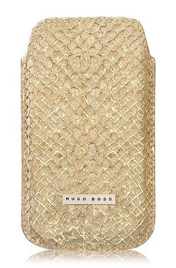 Hugo Boss Leder LIMITED ''Coral Gold'' Pouch voor iPhone 4, 4s, 5 en 5s - Telefoonhoesjes Shop