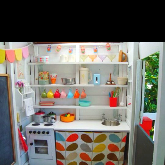 134 best aarons cubby houses cubby styling ideas images for Playhouse kitchen ideas