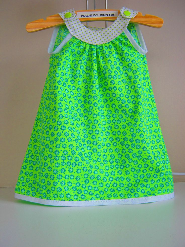Inspiration - pattern Snappy Toddler Dress from Prudent Baby- Beautiful combination of fabrics - made by Bientje