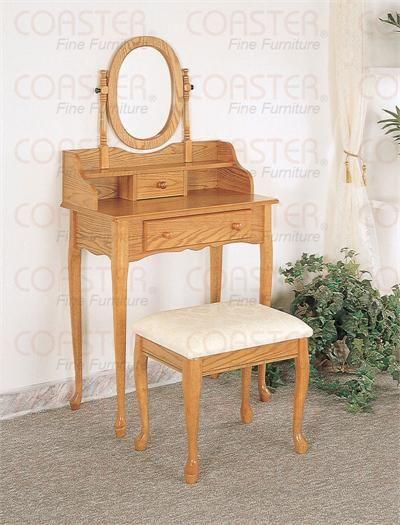 oak makeup vanity set. Samantha Oak Makeup Vanity Set w  Stool 93 best Tables images on Pinterest Dressing tables