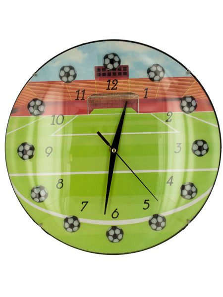 OC677-Bulk Buys OC677 Soccer Wall Clock Buy It In Bulk - Bringing the Warehouse Club experience straight to your door