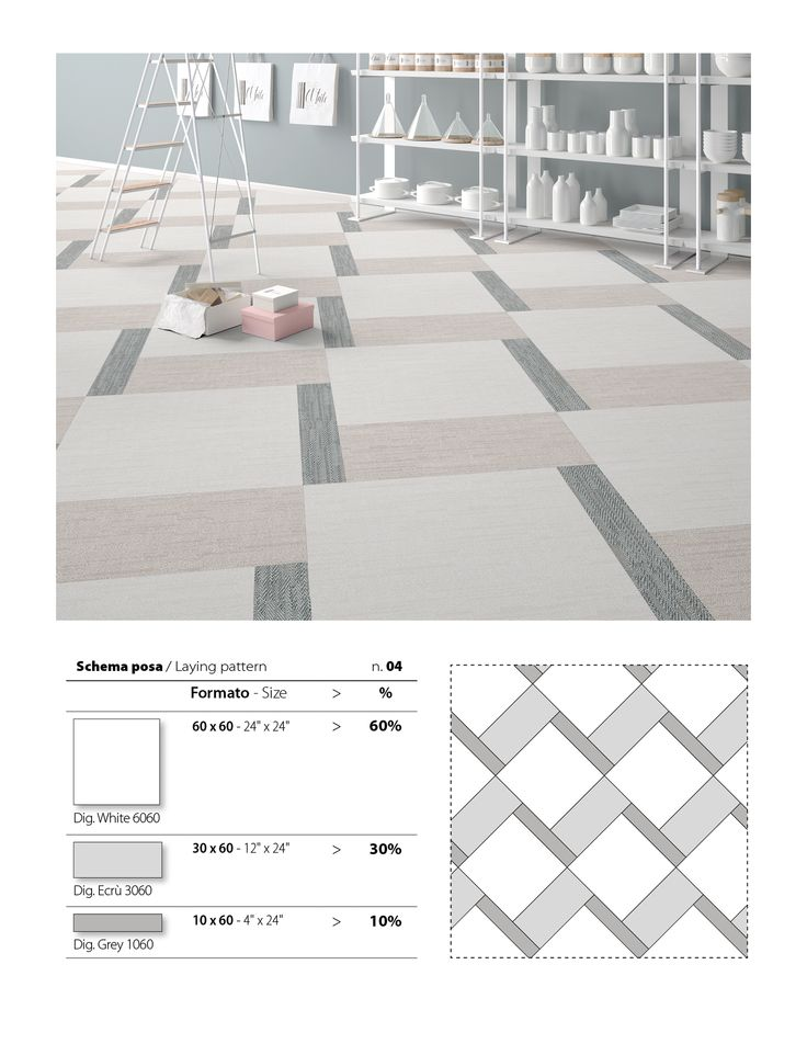 How pretty is this floor tile pattern? It's created using the White, Ecrù and Grey colours from our DigitalArt Series.