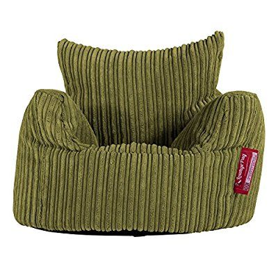 LOUNGE PUG - CORD - CHILDRENS Armchair - Kids Bean Bags UK - Lime