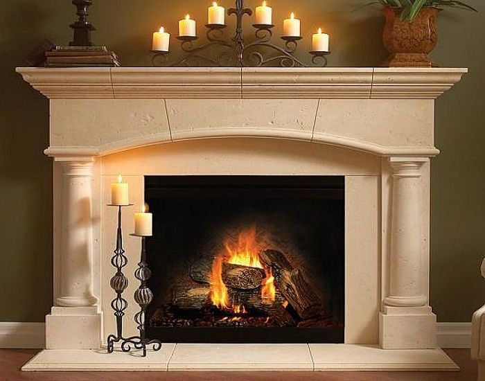 Fireplace surrounds and White fireplace mantels