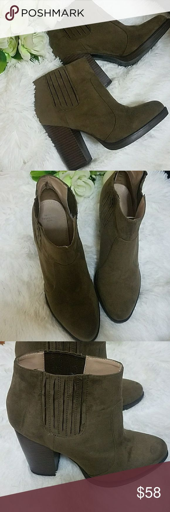 ZARA AW' 13 BOOTIES SIZE 41 FITS A SIZE 10 In good conditions 4.5 heels BROWN MINK COLOR Zara Shoes Ankle Boots & Booties