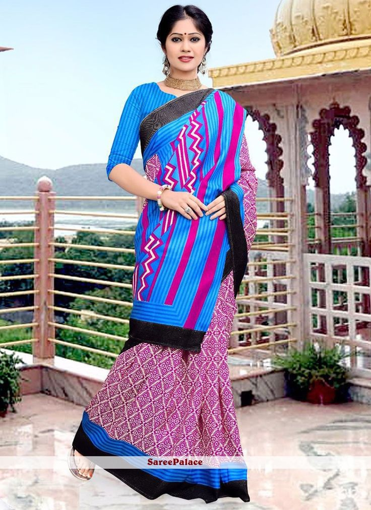 Staggering Art Silk Multi Colour Printed Saree