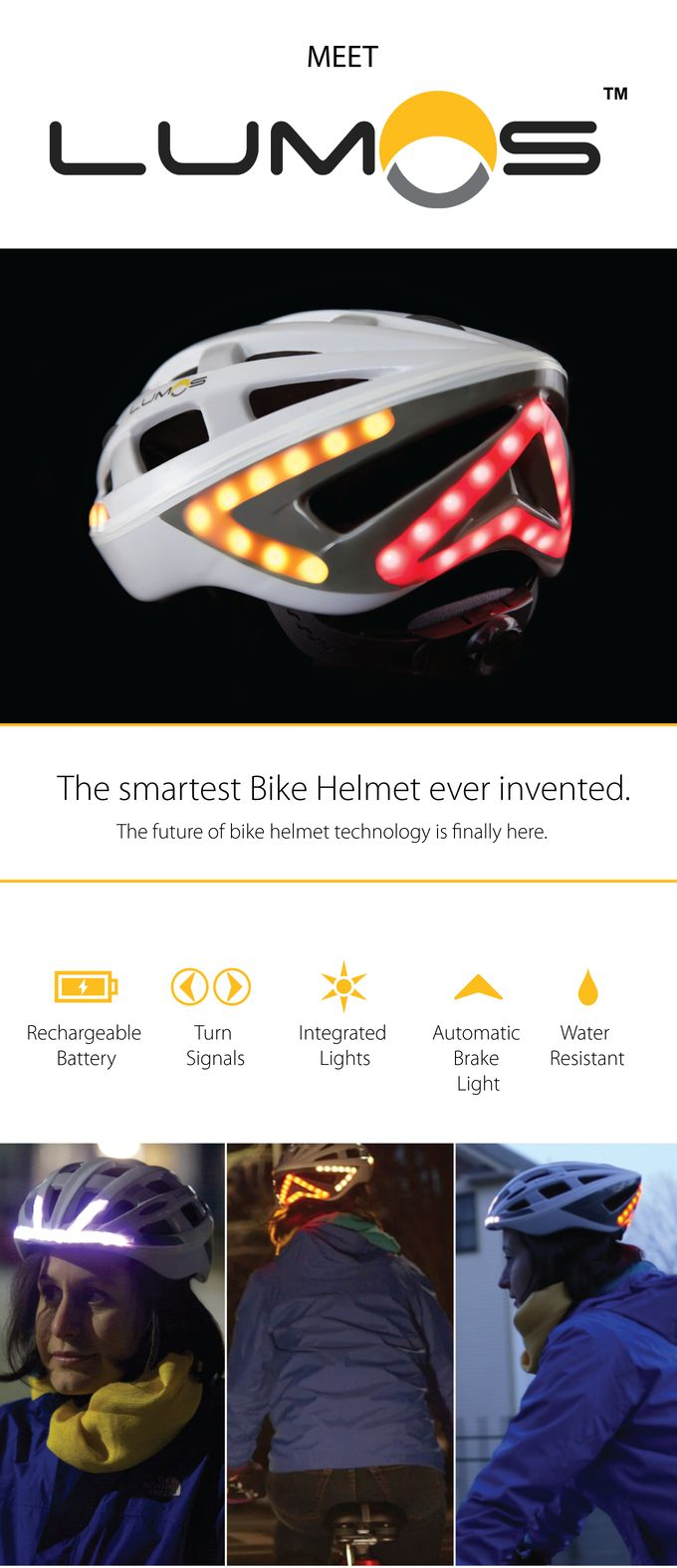 Lumos - A Next Generation Bicycle Helmet by Lumos Helmet — Kickstarter
