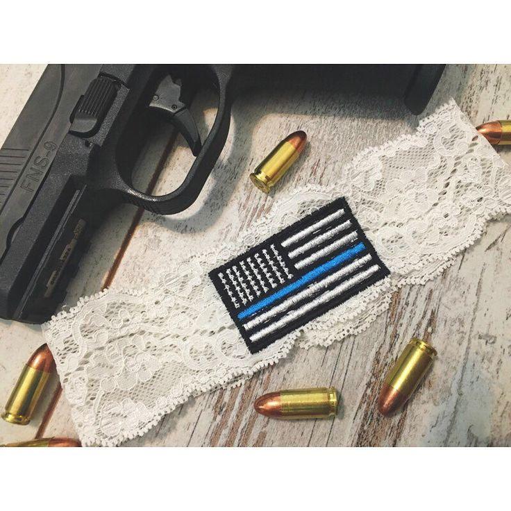 Thin blue line flag Garter https://www.etsy.com/listing/457859144/thin-blue-line-garter-police-wedding