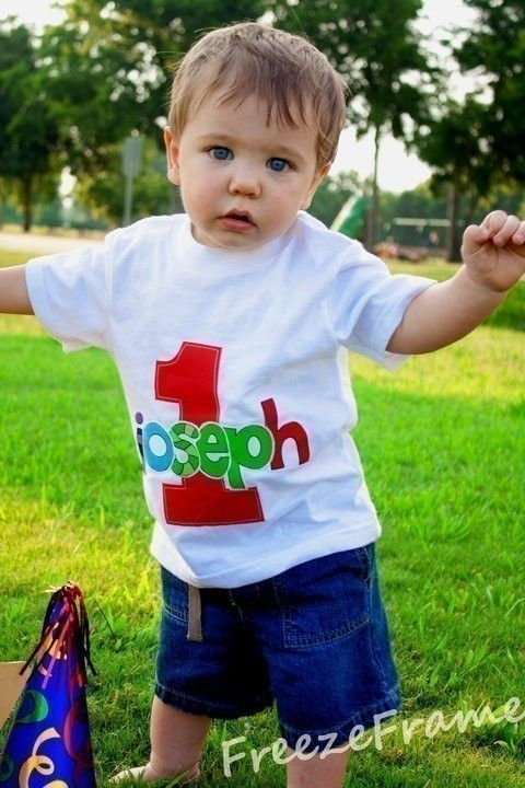 So Cute Infant Toddler Boys First Birthday Personalized Shirt