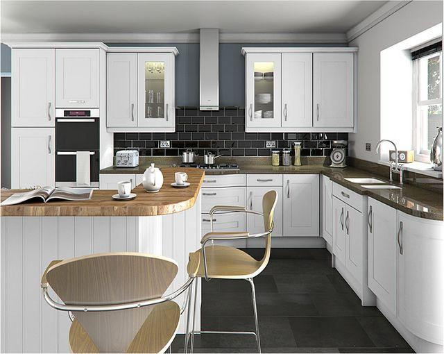 a welton matt white painted kitchen design idea httpwwwdiy