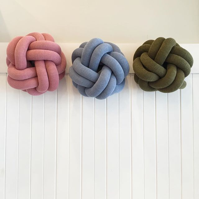 Scandi design Knot cushions all the way from Stockholm- soft and sculptural like a work of art for your living space