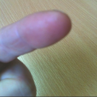 I've got a thorn in the tip of my finger today - ow!