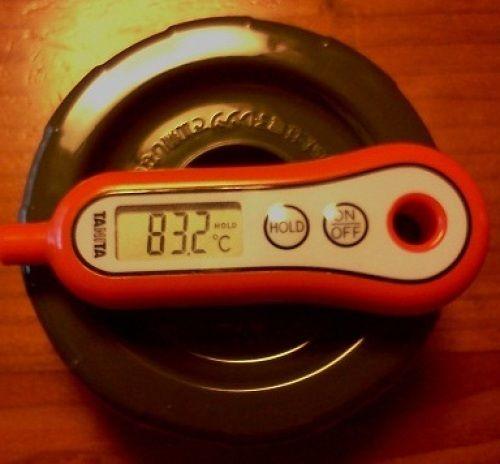 [性能レビュー]象印ステンレスランチジャー SL-GF18-BA、SZ-DA03-GL、Thermos コウバイの保温力検証 (2)