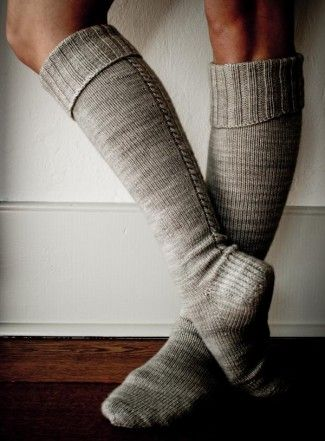 Little Cable Knee Highs | The Purl Bee