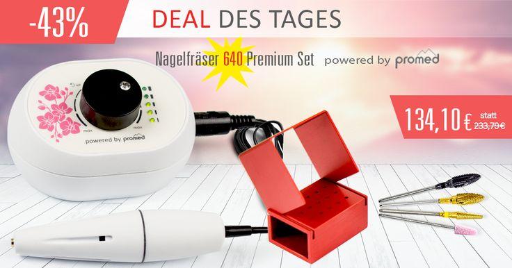 Deal des Tages ★ 134,10 € - Nagelfräser 640 Premium Set ⇨ http://www.nd24.de/dealdestages NUR HEUTE, 29.07.2015 bis 23.59 Uhr