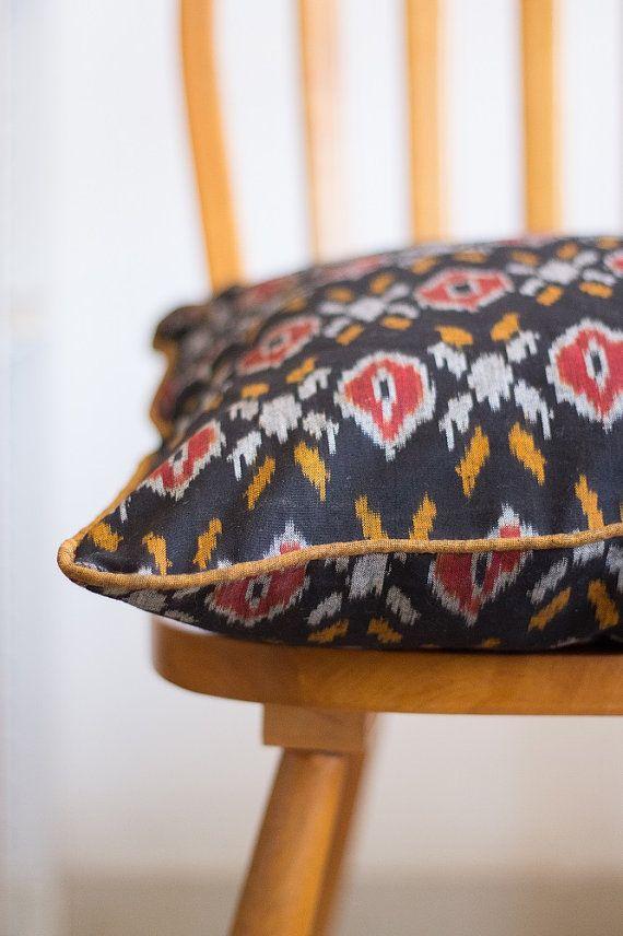 18x18 Throw pillows Decorative ikat pillow by KaribyKriti