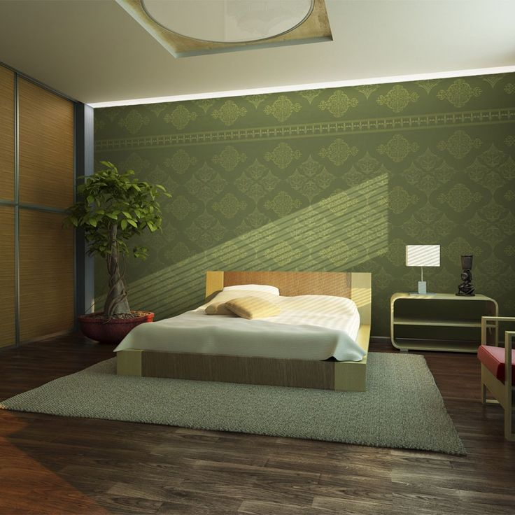Fototapeta - Zielony barok