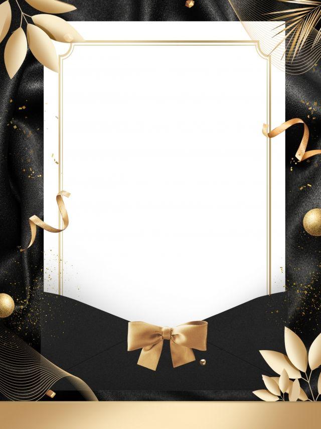 Black Gold Style Fashion Invitation Background Design Fashion Invitation Invitation Background Background Design