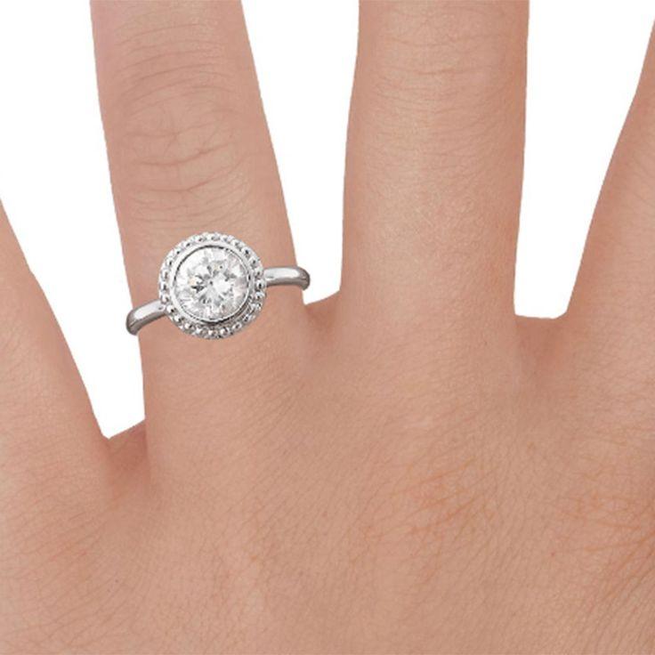 1.00 Ct Moissanite Diamond Ring 14k White Gold Finish Wedding Band Set Size H,I,