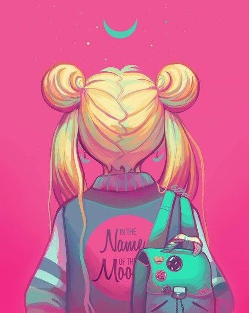 sailor moon and art image