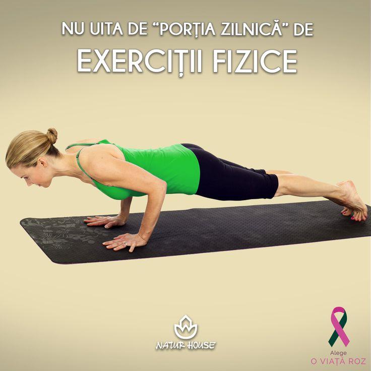 """Pentru tonifierea și subțierea siluetei, poți practica un exercițiu simplu numit """"scândura"""". Se execută cu toți mușchii încordați, în poziția de flotare, cu sprijin pe vârfurile picioarelor și pe antebrațe. Poziția se menține 30 de secunde și se repetă de cel puțin 10 ori exercițiul. Astfel antrenezi mușchii din zona abdomenului, umerilor și picioarelor. Mai mult sfaturi pentru un stil de viață sănătos pe www.natur-house.ro"""