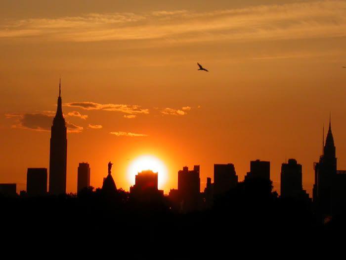 New York Sunset #beatgirl #sunset #nyc #dream #newyork #city